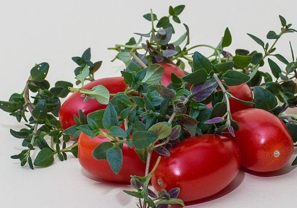 Thyme and tomatoes