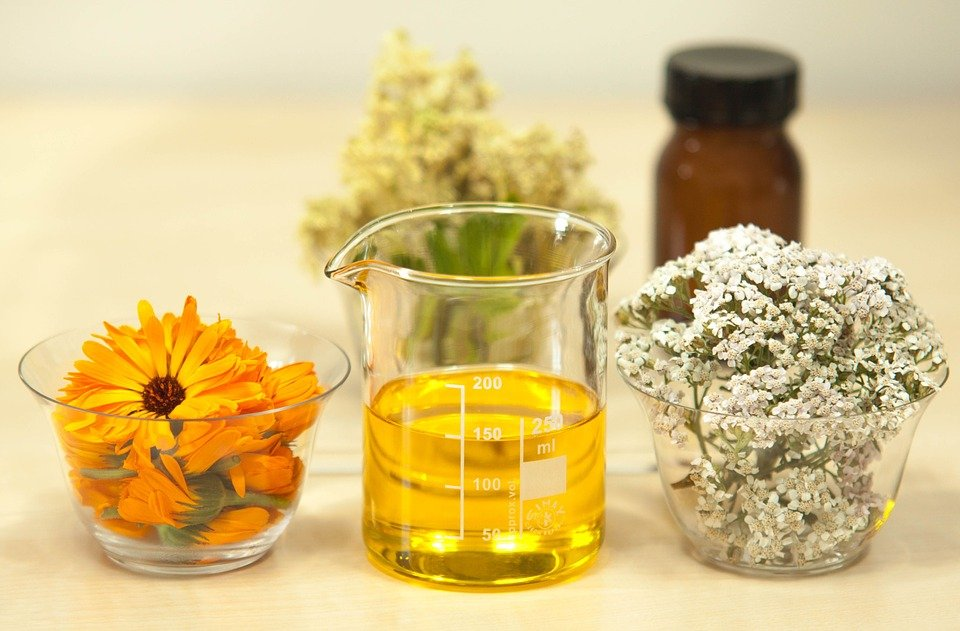 Calendula officinalis and oil