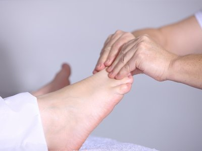 Foot cramp and massage