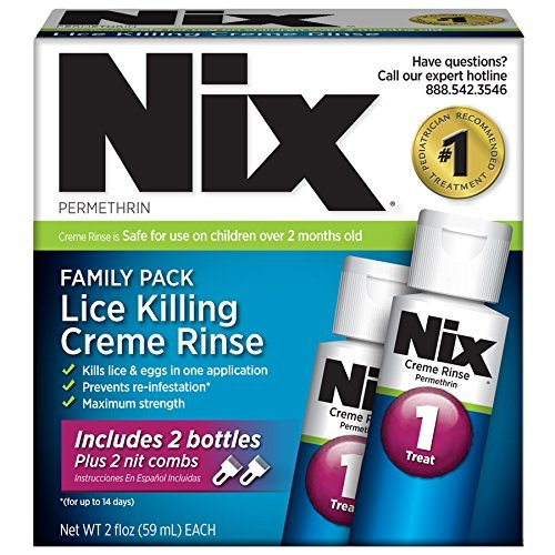 NIX Permethrin Lice Treatment Family Pack 2x2 ounce bottles