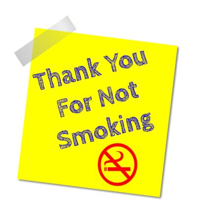 thank for not smoking