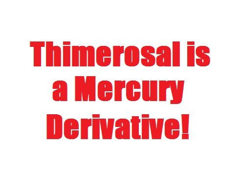 thimerosal is a mercury derivative!