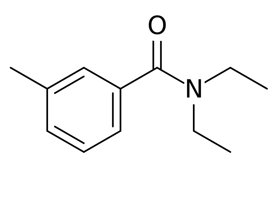 Chemical structure of DEET