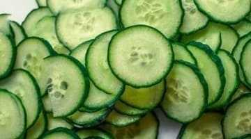 Fresh sliced cucumbers