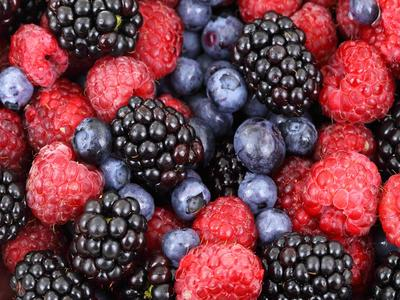 Berries: blackberries and raspberries