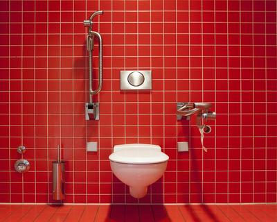Red toilet