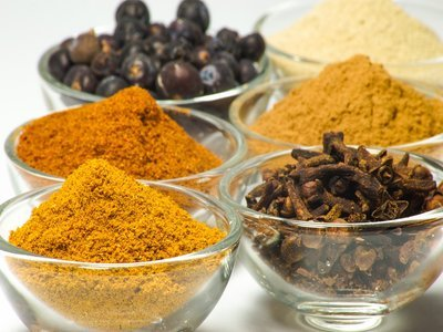 Indian spices and turmeric