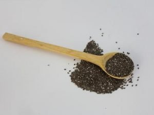 spoon and chia seeds