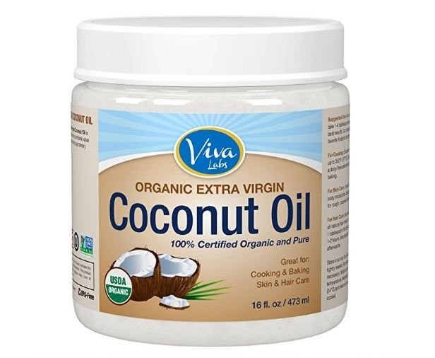 Coconut oil in jar