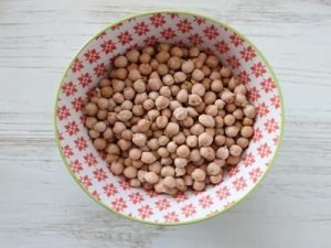 chickpeas and platter