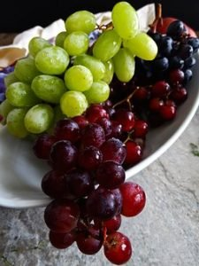 black and green grapes