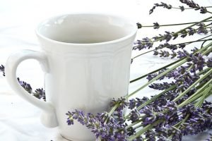 lavender and cup
