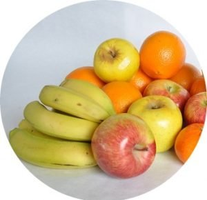 bananas and fruits