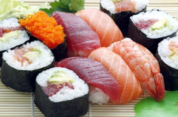 seafood and sushi