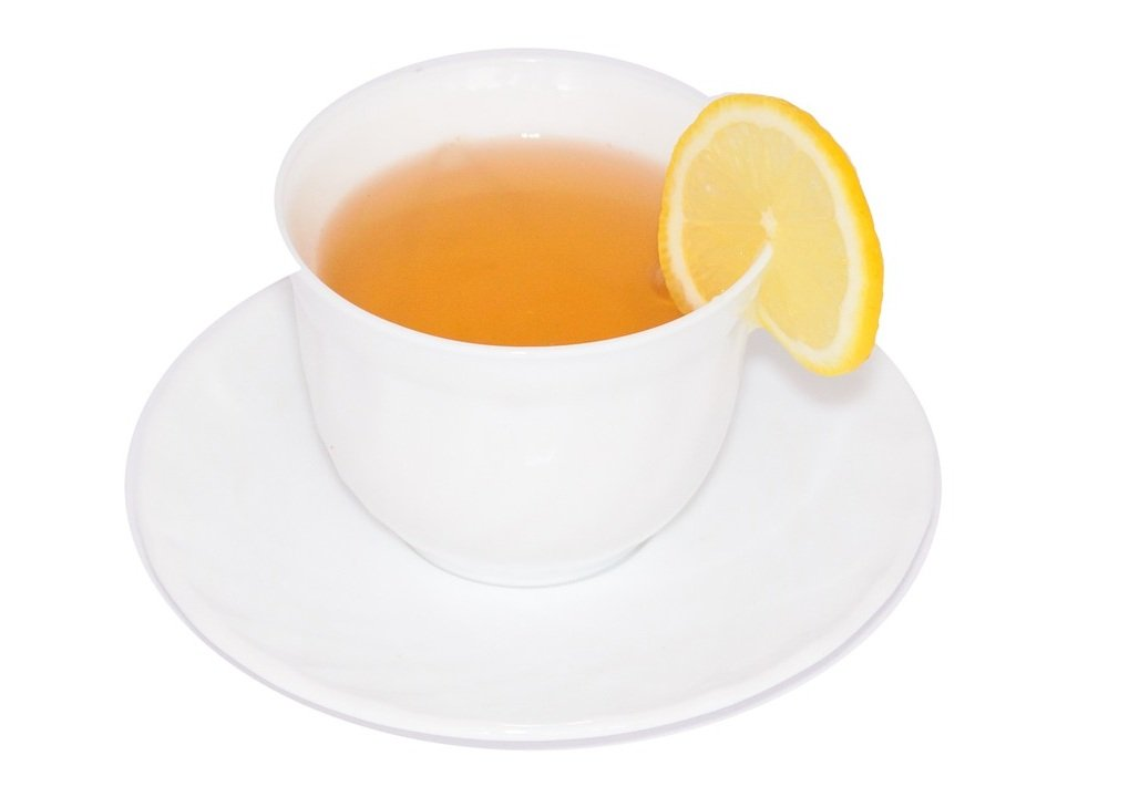 Cup of Darjeeling tea with lemon