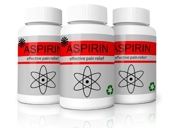 Aspirin in plastic jar