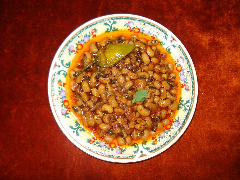 dish with Black-Eyed Pea