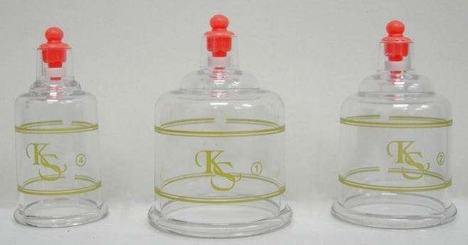 Plastic cupping cups