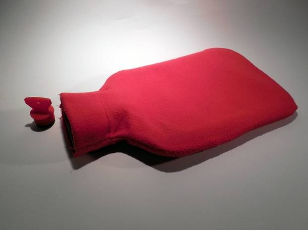Hot-water bottle (red)