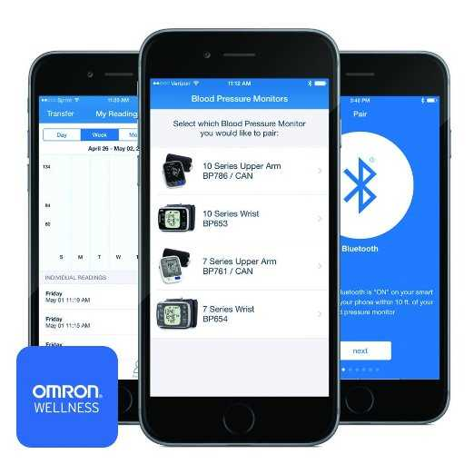 Smartphone and Omron Series 10