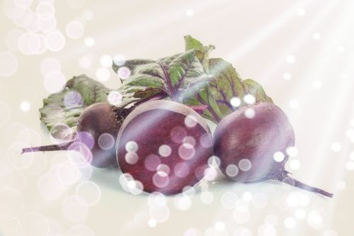 Ripe red beets