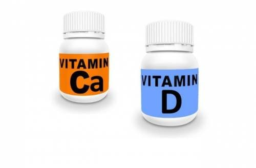Vitamins calcium and D for osteoporosis