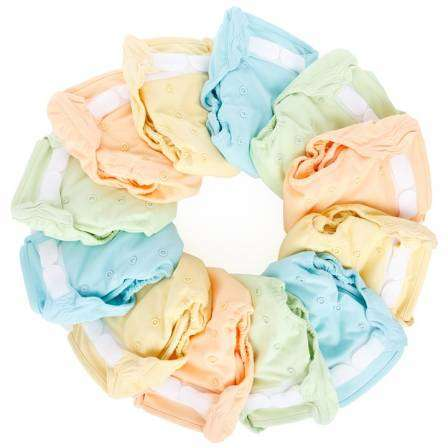 Diapers colored