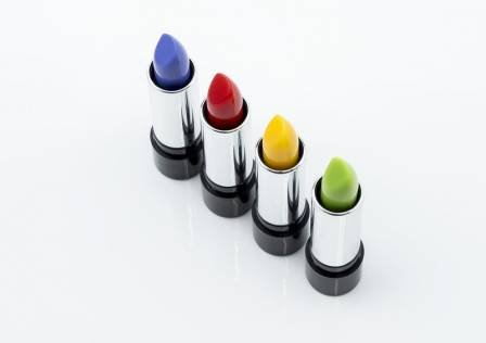 Multicolored lipsticks