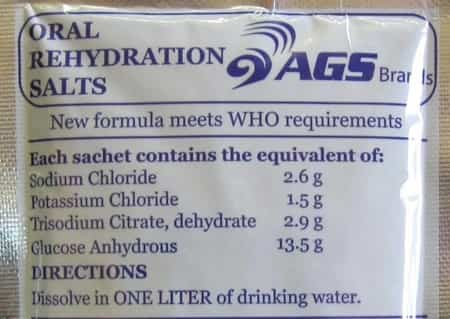 Oral rehydration solution/salts (ORS)