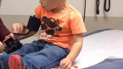 Normal and High Blood Pressure in a baby